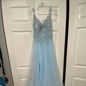 Baby Blue after five dress
